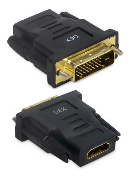 Kit C/ 10 Adaptador Conversor Dvi-d Macho (24+1) Hdmi Femea