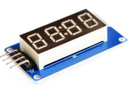 Modulo Display 4 Digitos Tm1637 7 Segmento Quadruplo Arduino