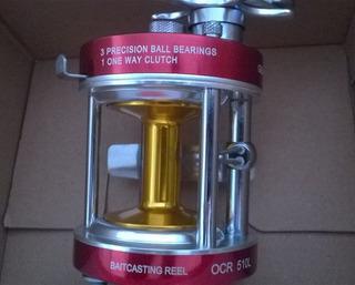 Carretilha Sumax Ocean Red Ocg 510 Peças Internas Em Inox!!