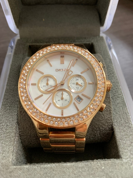 Relógio Dkny Ouro Rose Modelo Ny8179