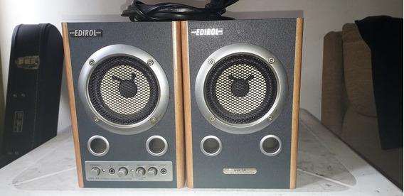 Par De Monitores De Áudio Edirol Ma-7a