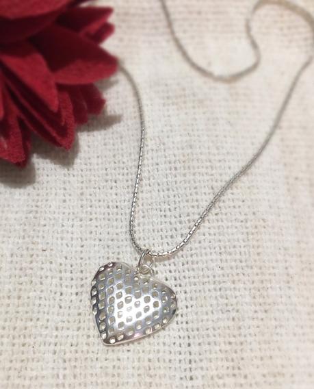 Corrente Em Prata 925 + Pingente De Coração