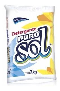 Puro Sol Detergente En Polvo / Caja Con 20 Bolsas De 500 G
