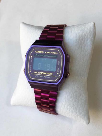 Reloj Casio Azul Metalico Mayoreo