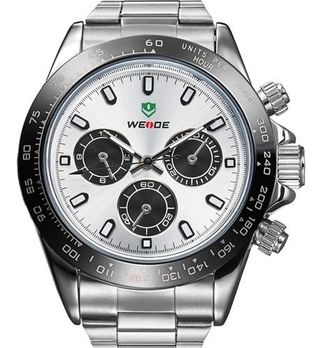 Relógio Masculino Weide Prata Wh3309-2c