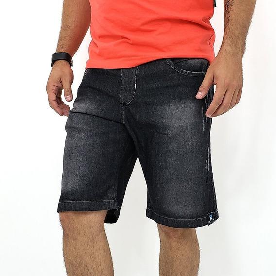 Kit 5 Bermuda Short Jeans Masculina Com Barra Atacado Oferta