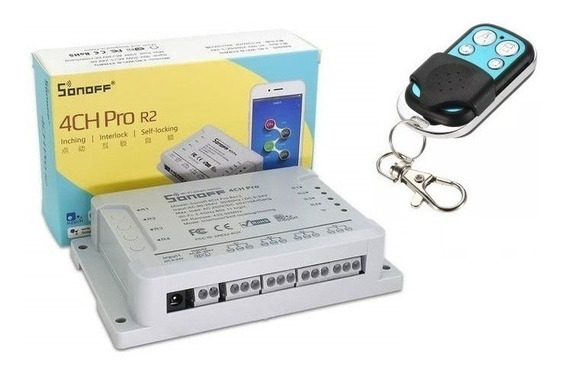 Sonoff 4ch Pro Smart + Controle 433mhz Wifi E Internet