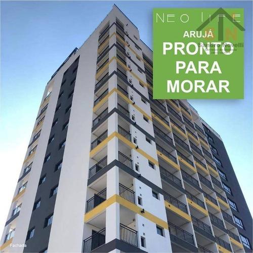 Imagem 1 de 8 de Apartamento (stúdio) À Venda, 34 M² Por R$ 295.000 - Entrada 15%, Use Seu Fgts (consulte Condições)- Centro - Arujá/sp - Ap0180