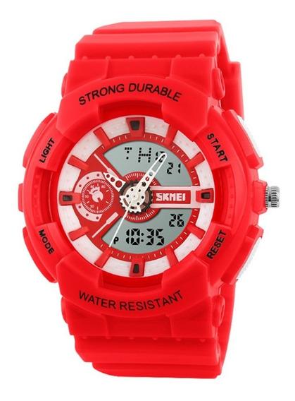 Relógio Infantil Skmei Anadigi 1052 Vermelho