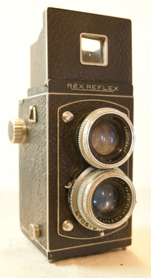 Câmera Tlr Antiga Vintage Photorex Rex Reflex Francesa