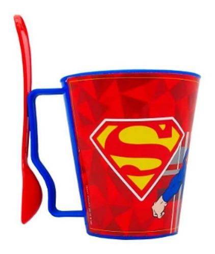 Taza Con Cuchara Superman Lj021 Cresko