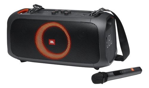 Alto-falante JBL PartyBox On-The-Go portátil com bluetooth black 100V/240V
