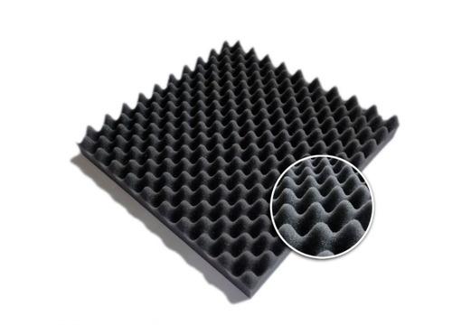 Imagen 1 de 9 de Placa Panel Acústico Espuma Conos 500 X 500 X 30 Mm