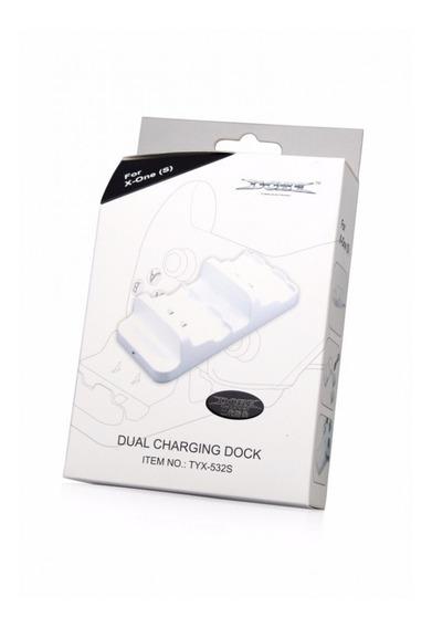 Dock Carregador Controle Xbox One , S E X+ 2 Baterias Branca