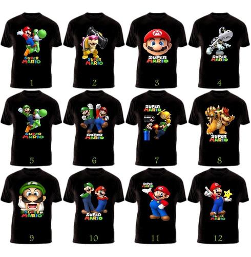 Camisetas Super Mario Bros Nintendo Algodón Exclusivas
