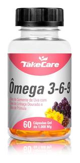 Ômega 3 6 9 (linhaça + Primula + Uva) - Take Care