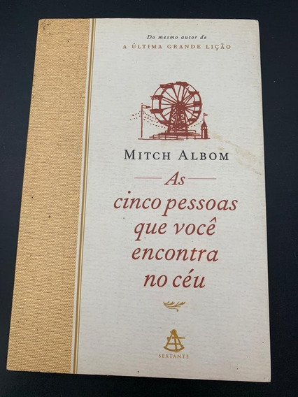 Livro As Cinco Pessoas Que Voce Encontra Ceu Mitch Albon