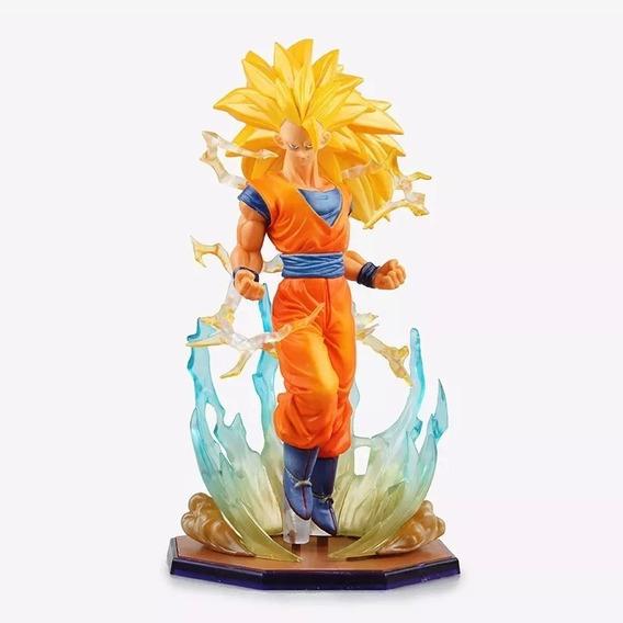 Boneco Dragon Ball Z Goku Ssj3 Figura De Ação Efeitos Barato