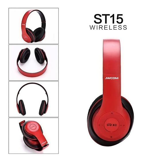 Fone Bluetooth Sem Fio Fm Sd P2 6h Longa Duraçao Headfone 15