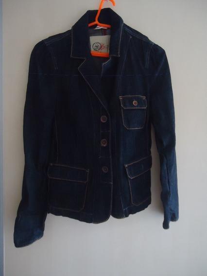 Casaco Jaqueta Blazer Jeans Gap Tam G Usado