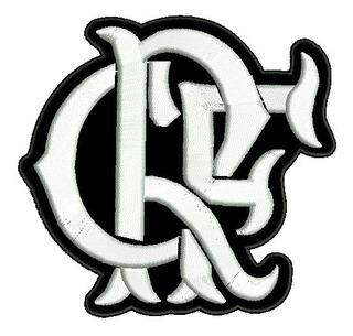 Patch Bordado Time Futebol Flamengo Crf 8cm.
