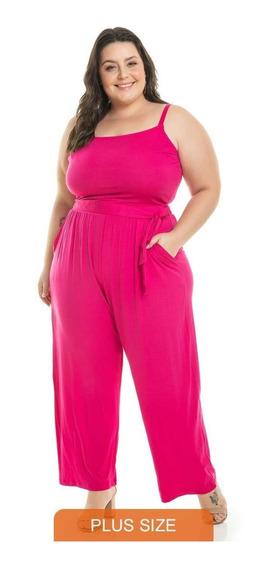 Macacão Longo De Alça Moda Feminina Plus Size Frete Grátis