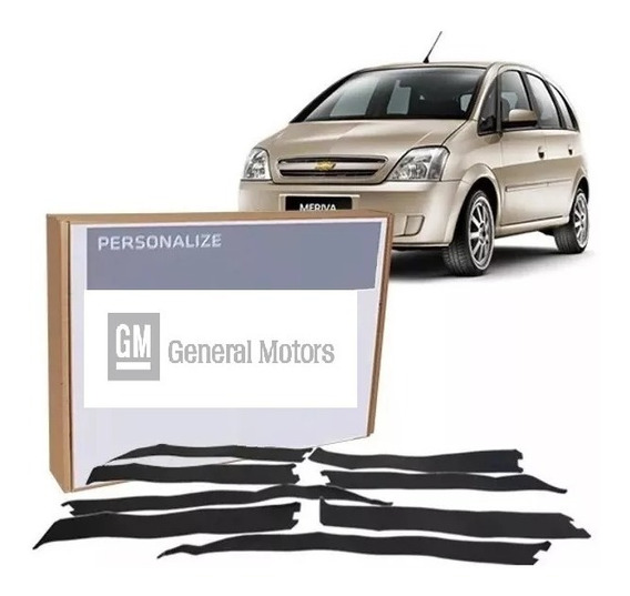 Calcos Negros Parantes Chevrolet Meriva (juego Completo) Gm