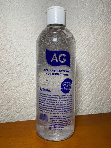 Gel Antibacterial 1000ml Ag 70% Alcohol Humectante 1 Pieza