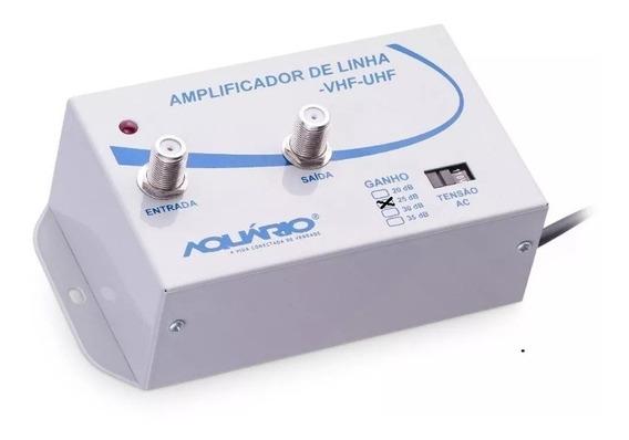 Amplificador De Sinal De Antena Para Tv - 25db - Aquário