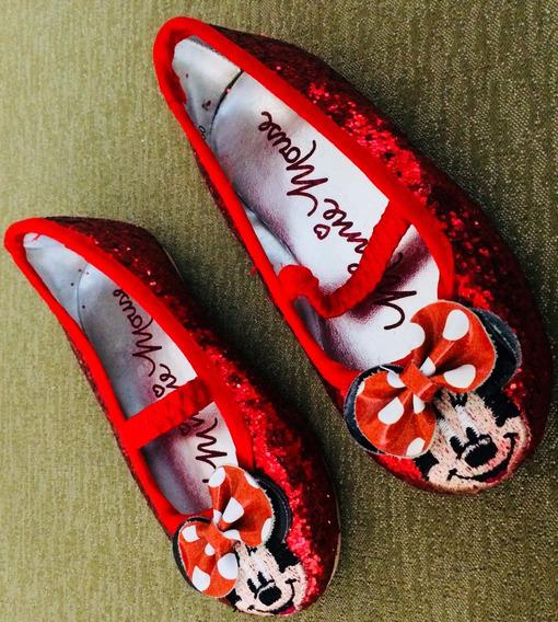 Sapatilha Disney Vermelha Da Minnie Mouse
