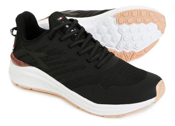Tenis Diadora Hexa Running Feminino Preto