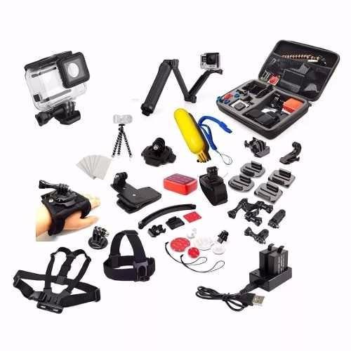 Kit Gopro Maleta Case Hero 5 Black Carregador Estanque 3 Way