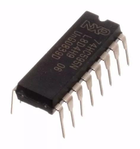 Kit 20x Ci 74hc595 Dip Circuito Integrado 8-bit Shift Regist