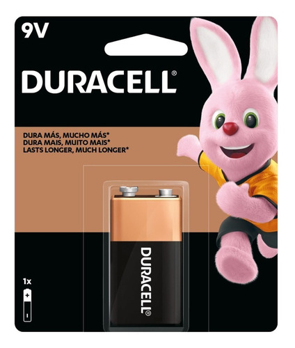 Imagem 1 de 2 de Bateria Duracell 9volts Para Microfone Violão Validade Longa