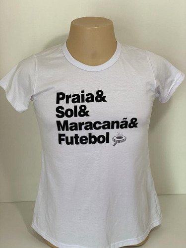 Camiseta Fem Praia Sol Maracanã & Futebol