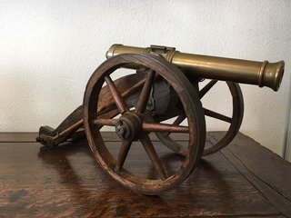 Oferta Cañón De Bronze Antiguo 1870-1890