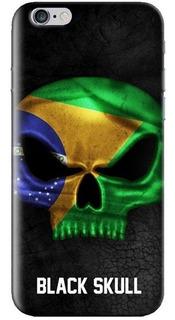 Capinha Anti Impacto - iPhone / Samsung Galaxy - Black Skull