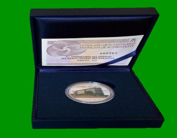 Moneda Proof 35º Aniversario Edif Banco Central Del Paraguay