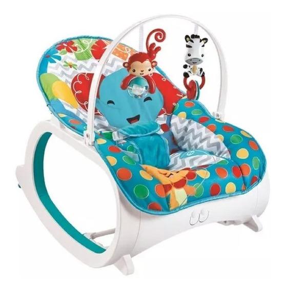 Cadeira Cadeirinha Descanso Safari Musical Com Balanço Azul