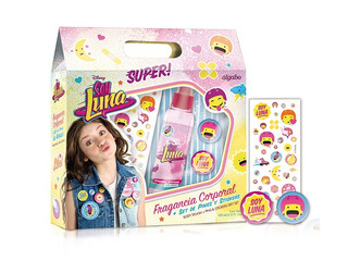 Set Regalo Soy Luna Body Splash + Stickers + Pines X 8 Uni.