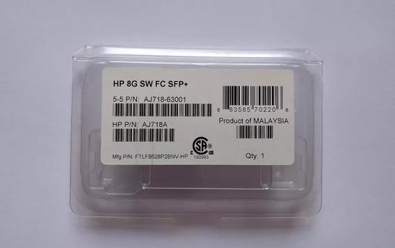 Conversor Gbic Genuine Hp 8g Sw Fc Sfp+ Aj718a - Novo