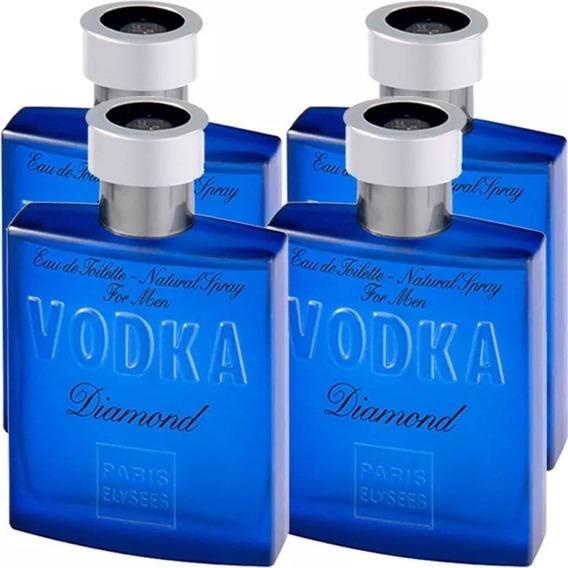 Perfume Vodka Diamond 100ml Edt Kit Com 4 Perfumes Originais