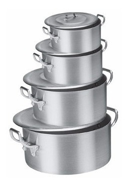 Jogo De Caçarola Aluminio Industrial Restaurante, Buffet.