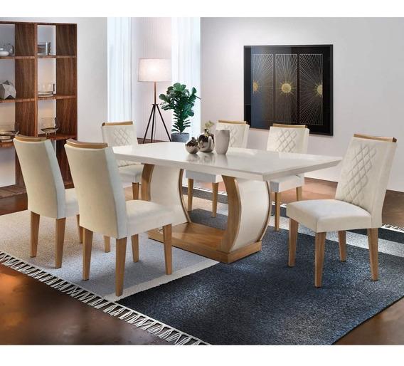 Conjunto Mesa De Jantar 6 Cadeiras Kate Espresso If
