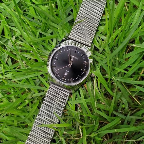 Relógio Masculino Technos 2115lal C/nf Original Malha De Aço