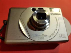 Camera Canon S20 3.3 Mpixels Zoom 6,5-13mm C/power Dk110 Kit