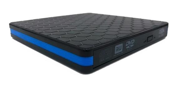 Gravador Dvd Externo Slim Portátil Drive Usb 3.0 Leitor Dex