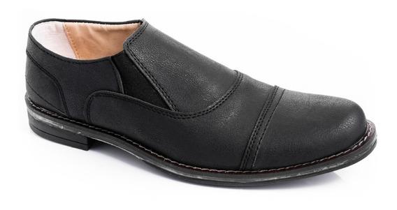 Zapatos Hombres Vestir Urbanos Cuero Pu Sin Cordones Comodos