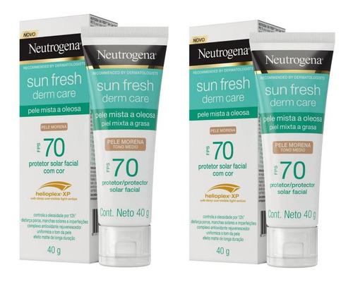 Kit Dois Protetor Solar Facial Neutrogena Sun Fresh Derm 40g
