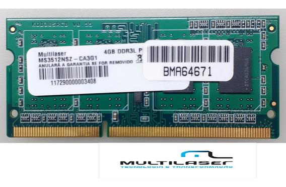 Memoria 4gb Ddr3 Multilaser P/ Notebook Pc-12800 - 1600mhz